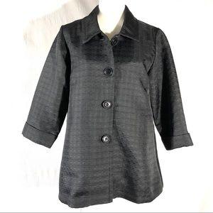 Simonton Says Black Oversized 3/4 Sleeve Jacket